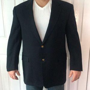 Navy blue men's blazer